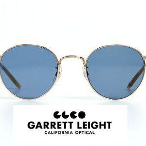 GARRETT LEIGHT Wilson M Sun Gold/Navy Sunglasses
